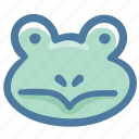 animal, avatar, doodle, frog icon