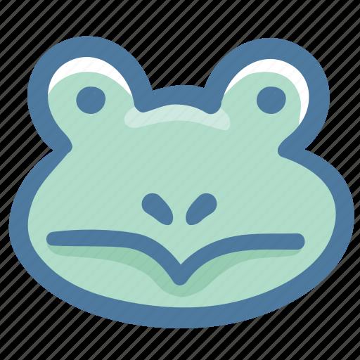 animal, avatar, doodle, frog icon