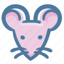 animal, doodle, rat icon