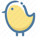 animal, chick, doodle icon