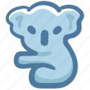 animal, bear, cola, doodle, koala bear icon