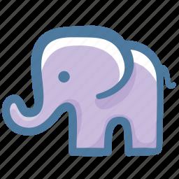 animal, doodle, elephant icon