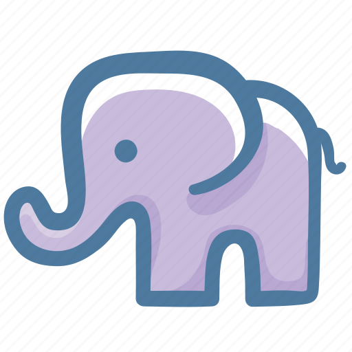 animal, doodle, elephant icon