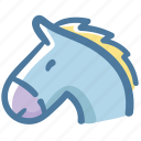 animal, avatar, doodle, horse icon