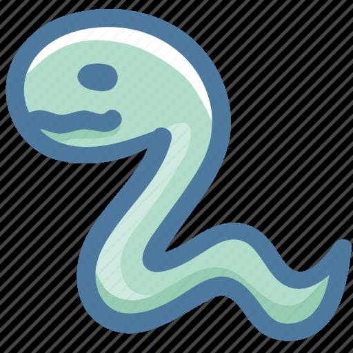 animal, avatar, doodle, reptile, snake icon