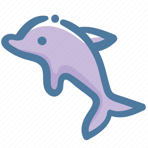 Doodle, dolphin, animal, sea icon - Download on Iconfinder
