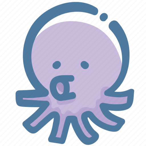animal, doodle, sea, squid icon