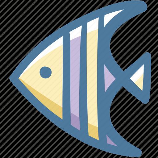 animal, doodle, fish, sea icon