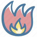 burn, doodle, fire icon