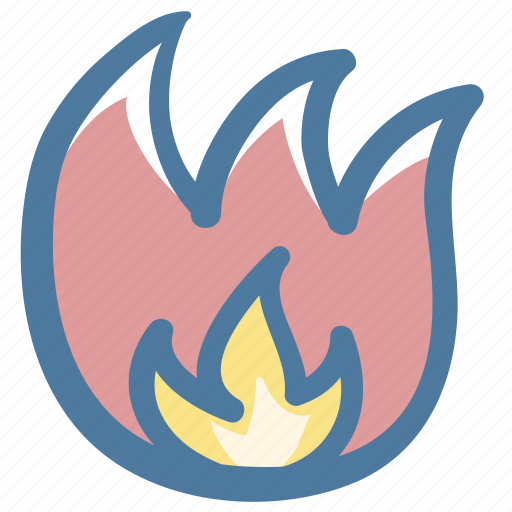 Burn, doodle, fire icon - Download on Iconfinder