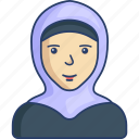 avatar, girl, hijab, islam, mosleam, profile, woman icon