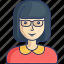 avatar, geek, nerd, profile, woman