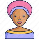 african, avatar, girl, people, profile, woman icon