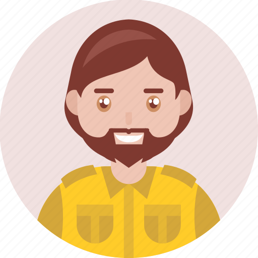 Adult, avatar, beard, happy, male, man, smile icon - Download on Iconfinder