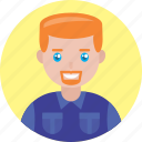 adult, avatar, happy, kid, male, man, smile icon