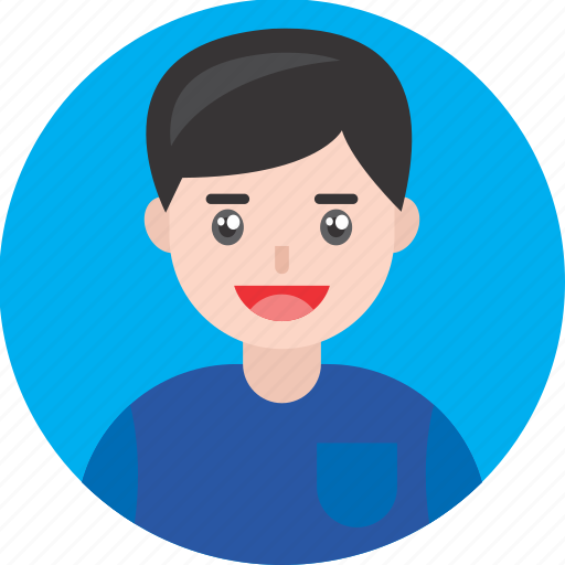 Avatar, blue, boy, happy, kid, male, smile icon - Download on Iconfinder