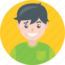 avatar, boy, happy, kid, male, smile, yellow icon