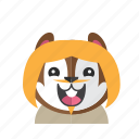 cute, style, chipmunk, costume, smile, kid, avatar
