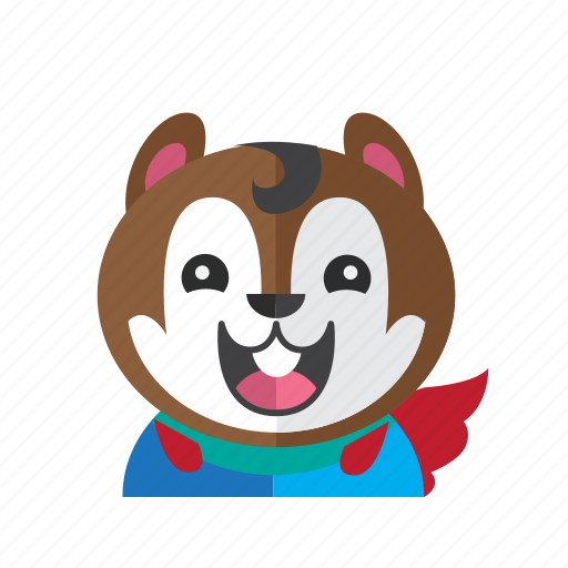 Cute, style, chipmunk, costume, smile, kid, avatar icon