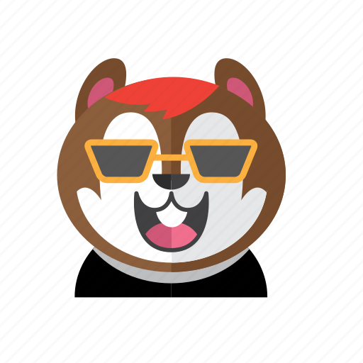Cute, style, chipmunk, costume, smile, kid, avatar icon