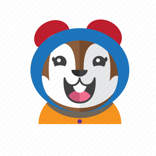 Cute, style, chipmunk, costume, smile, kid, avatar icon - Download