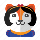 avatar, costume, cute, dog, fox, smile icon