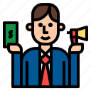 business, buyer, buying, sale, salesman, trade icon