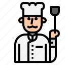 chef, cook, cooking, kitchen, knife, restaurant icon