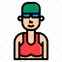 dive, female, girl, healthy, pool, swimming icon
