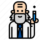 doctor, lab, laboratory, microscope, research, scientist icon