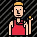jogger, jogging, man, runner, sprinter, young icon