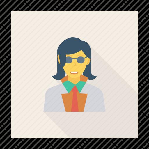 avatar, fashion, female, glasses, person, profile, user icon