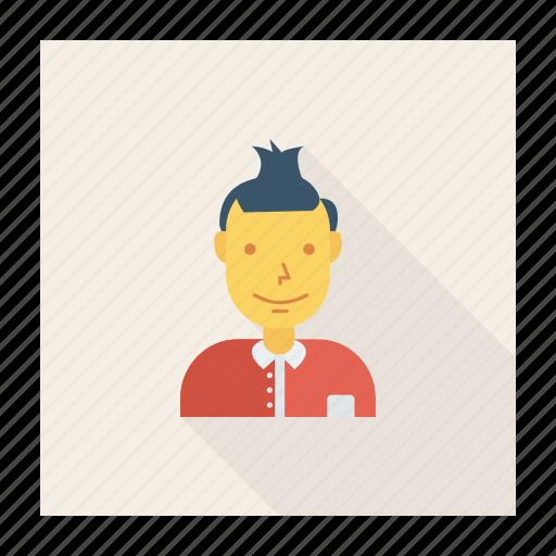 avatar, fashion, person, profile, style, user, young icon