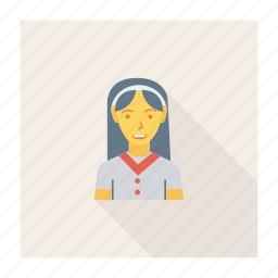 avatar, female, person, profile, receptionist, staff, user icon