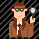 crime, detective, inspector icon