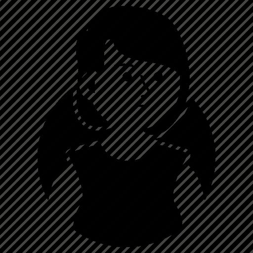 Avatar, emoji, expression, girl, short hair, suspicious, woman icon - Download on Iconfinder