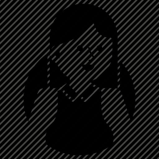 avatar, emoji, expression, girl, happy, secretary, woman icon