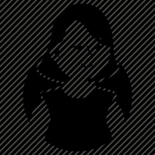 avatar, dead inside, emoji, expression, girl, short hair, woman icon