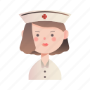 female, health, hospital, medical, nurse, uniform, woman icon
