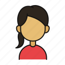 female, woman, profile, avatar