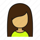 female, girl, woman, profile, avatar