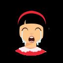 bandana, cry, kid icon