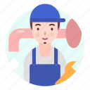 avatar, man, people, plumber, profession, user