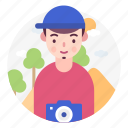 photographer, avatar, user, profession, people