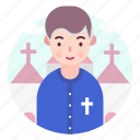 avatar, church, people, priest