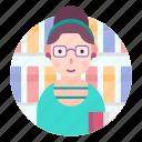 avatar, people, profession, professor, woman icon