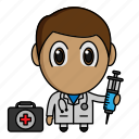 avatar, chibi, doctor, medical, profession icon