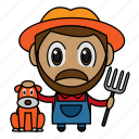 agriculture, avatar, chibi, farmer, profession