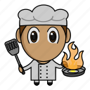avatar, chef, chibi, kitchen, profession icon