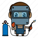 avatar, chibi, handyman, profession, welder